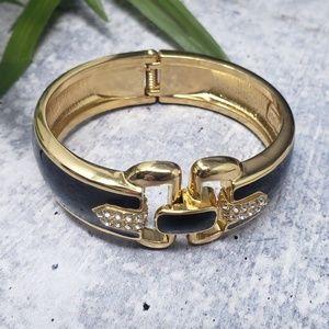 Stella & Dot | Duchess Black Gold Bangle Bracelet